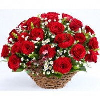 Basket of grand roses