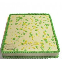 Ribbon Cake - Lemon Green