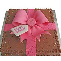 Happy Birthday Chocolate Cake - Pink
