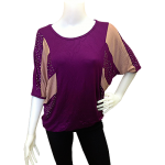 Blouse in Purple and Light Pink