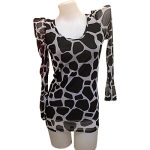 Blouse in Spotted Black Design