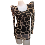 Blouse in Spotted Brown Design