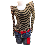 Blouse in Stripes Black Design