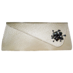 Buntal Clutch Trapezoid with Brooch