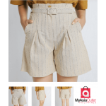 Betty Belted Striped Shorts